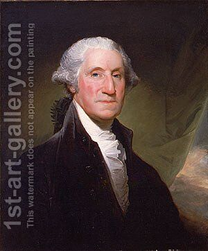George Washington begun 1795 by Gilbert Stuart - Reproduction Oil Painting