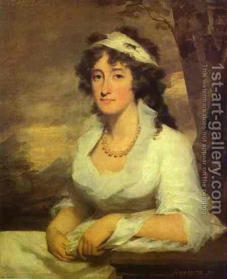 Portrait Of Janet Dundas 1790 by Sir Henry Raeburn - Reproduction Oil Painting
