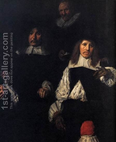 Regents of the Old Men's Almshouse (detail) 1664 by Dirck Hals - Reproduction Oil Painting