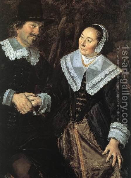 Family Group In A Landscape (Detail) 1648 by Frans Hals - Reproduction Oil Painting