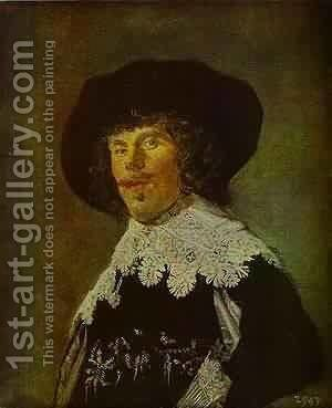 Portrait Of An Officer 1916 by Frans Hals - Reproduction Oil Painting