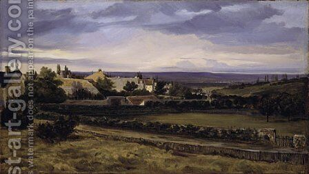 A Village in a Valley ca late 1820s by Allan Ramsay - Reproduction Oil Painting