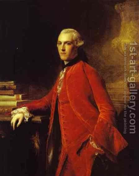 Portrait Of William Colyear Viscount Milsington 1964 by Allan Ramsay - Reproduction Oil Painting