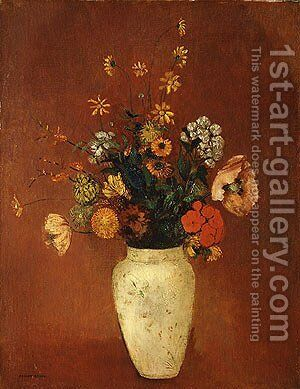 Bouquet in a Chinese Vase by Odilon Redon - Reproduction Oil Painting