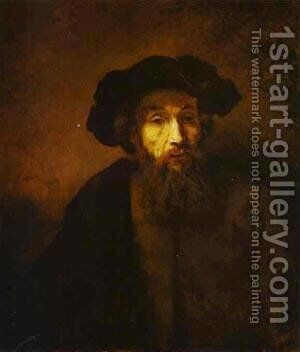 A Bearded Man In A Beret 1657 by Harmenszoon van Rijn Rembrandt - Reproduction Oil Painting