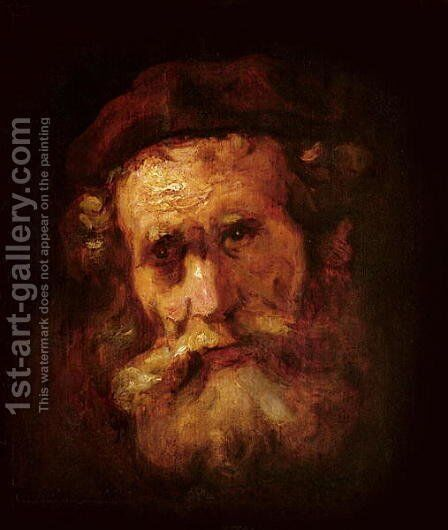 A Rabbi by Harmenszoon van Rijn Rembrandt - Reproduction Oil Painting