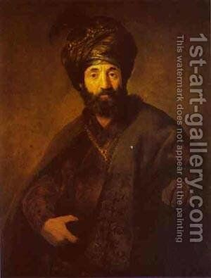 A Turk 1630 35 by Harmenszoon van Rijn Rembrandt - Reproduction Oil Painting