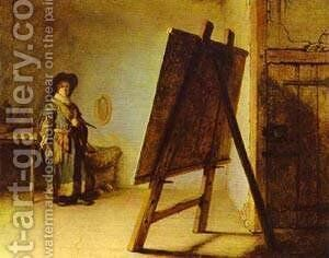 An Artist In His Studio 1629 by Harmenszoon van Rijn Rembrandt - Reproduction Oil Painting