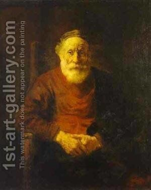 An Old Man In Red 1652 54 by Harmenszoon van Rijn Rembrandt - Reproduction Oil Painting