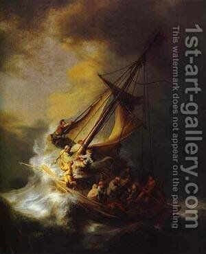 Christ In The Storm On The Lake Of Galilee 1633 by Harmenszoon van Rijn Rembrandt - Reproduction Oil Painting
