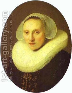 Cornelia Pronck Wife Of Albert Cuyper 1633 by Harmenszoon van Rijn Rembrandt - Reproduction Oil Painting