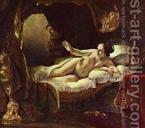 Danae 1636 by Harmenszoon van Rijn Rembrandt - Reproduction Oil Painting