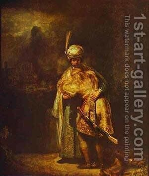 Departing Of David And Jonathan 1642 by Harmenszoon van Rijn Rembrandt - Reproduction Oil Painting