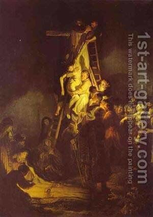 Descent From The Cross 1634 by Harmenszoon van Rijn Rembrandt - Reproduction Oil Painting