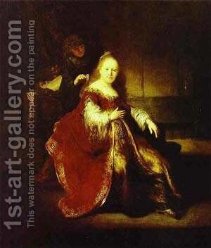 Esther Preparing To Iontercede With Assuerus 1633 by Harmenszoon van Rijn Rembrandt - Reproduction Oil Painting