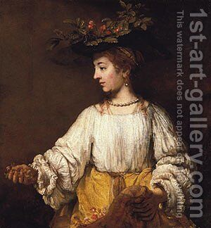 Flora probably early 1650s by Harmenszoon van Rijn Rembrandt - Reproduction Oil Painting