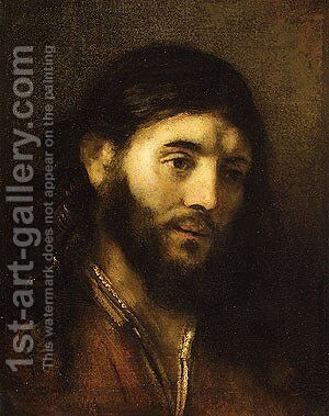 Head of Christ by Harmenszoon van Rijn Rembrandt - Reproduction Oil Painting
