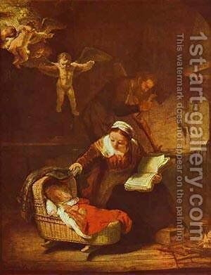 Holy Family 1645 by Harmenszoon van Rijn Rembrandt - Reproduction Oil Painting