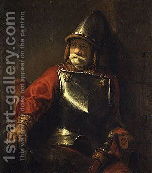 Man in Armor by Harmenszoon van Rijn Rembrandt - Reproduction Oil Painting