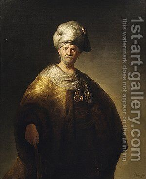 Man in Oriental Costume 1632 by Harmenszoon van Rijn Rembrandt - Reproduction Oil Painting