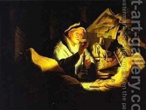 Parable Of The Rich Man 1627 by Harmenszoon van Rijn Rembrandt - Reproduction Oil Painting