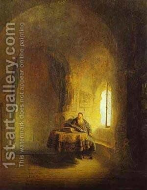 Philosopher Reading 1631 by Harmenszoon van Rijn Rembrandt - Reproduction Oil Painting