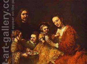 Portrait Of A Family 1668 by Harmenszoon van Rijn Rembrandt - Reproduction Oil Painting