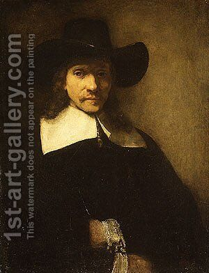 Portrait of a Man possibly 1650s by Harmenszoon van Rijn Rembrandt - Reproduction Oil Painting