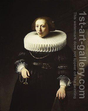 Portrait of a Woman 1632 by Harmenszoon van Rijn Rembrandt - Reproduction Oil Painting