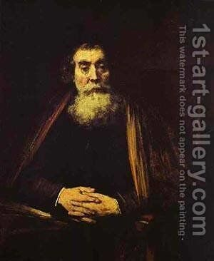 Portrait Of An Old Man (The Rabbi) 1664 65 by Harmenszoon van Rijn Rembrandt - Reproduction Oil Painting