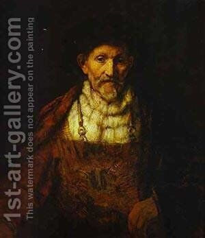 Portrait Of An Old Man 1651 by Harmenszoon van Rijn Rembrandt - Reproduction Oil Painting