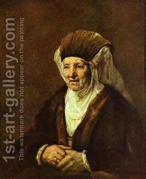 Portrait Of An Old Woman 1655 by Harmenszoon van Rijn Rembrandt - Reproduction Oil Painting