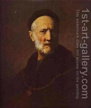 Portrait Of Rembrandts Father 1631 by Harmenszoon van Rijn Rembrandt - Reproduction Oil Painting