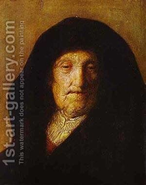 Portrait Of Rembrandts Mother 1630 by Harmenszoon van Rijn Rembrandt - Reproduction Oil Painting