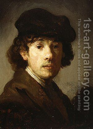 Rembrandt as a Young Man by Harmenszoon van Rijn Rembrandt - Reproduction Oil Painting