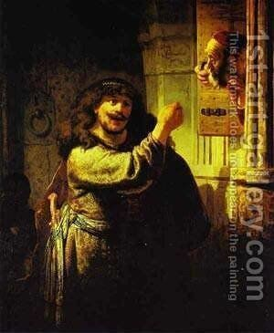 Samson Accusing His Father In Law 1635 by Harmenszoon van Rijn Rembrandt - Reproduction Oil Painting