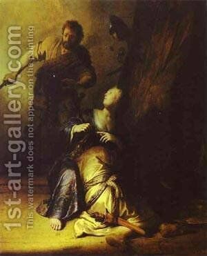 Samson Betrayed By Delilah 1629 30 by Harmenszoon van Rijn Rembrandt - Reproduction Oil Painting