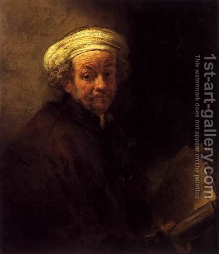 Self Portrait as the Apostle Paul 1661 by Harmenszoon van Rijn Rembrandt - Reproduction Oil Painting
