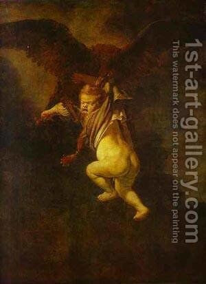 The Abduction Of Ganymede 1635 by Harmenszoon van Rijn Rembrandt - Reproduction Oil Painting