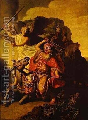 The Ass Of Balaam Talking Before The Angel 1626 by Harmenszoon van Rijn Rembrandt - Reproduction Oil Painting