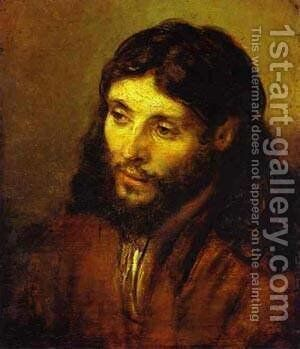 The Head Of Christ 1655 by Harmenszoon van Rijn Rembrandt - Reproduction Oil Painting