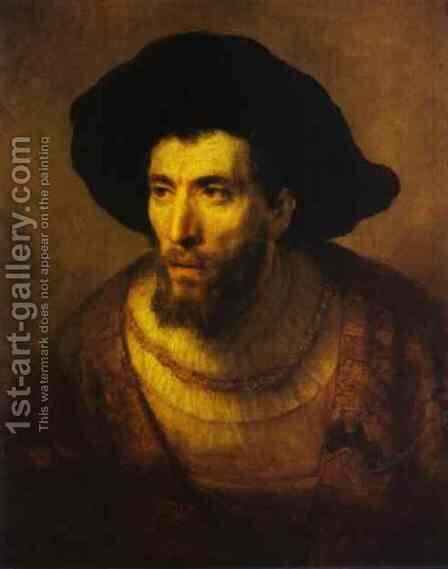 The Philosopher 1650 by Harmenszoon van Rijn Rembrandt - Reproduction Oil Painting