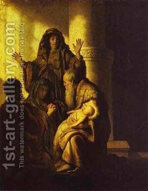 The Presentation Of Jesus In The Temple 1627 28 by Harmenszoon van Rijn Rembrandt - Reproduction Oil Painting