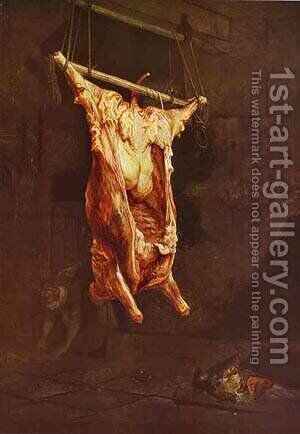 The Slaughtered Ox 1638 by Harmenszoon van Rijn Rembrandt - Reproduction Oil Painting