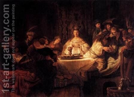 The Wedding of Samson 1638 by Harmenszoon van Rijn Rembrandt - Reproduction Oil Painting