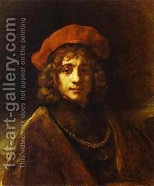 Titus 1658 by Harmenszoon van Rijn Rembrandt - Reproduction Oil Painting