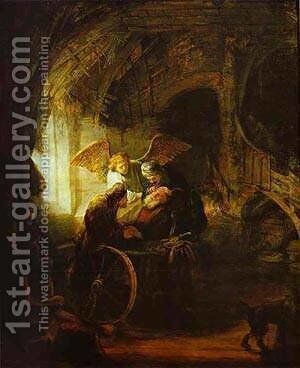 Tobias Returns Sight To His Father 1636 by Harmenszoon van Rijn Rembrandt - Reproduction Oil Painting