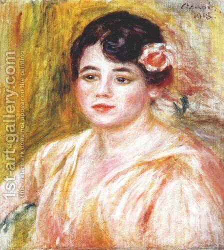 Portrait of Adele Besson 1918 by Pierre Auguste Renoir - Reproduction Oil Painting