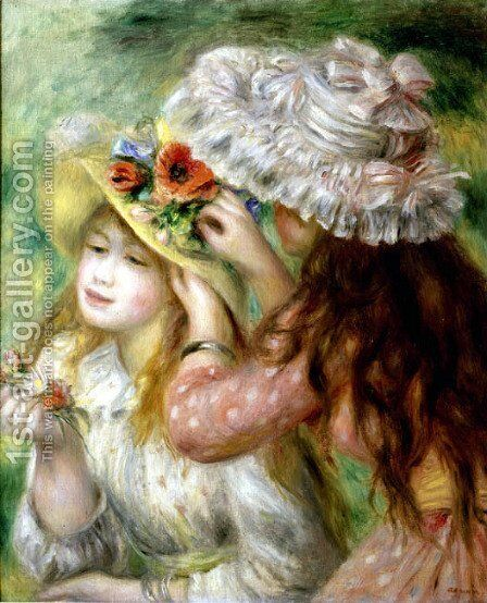 Summer Hats by Pierre Auguste Renoir - Reproduction Oil Painting