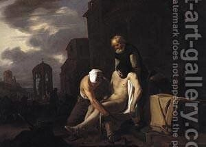 Burying the Dead 1650 by Michael Sweerts - Reproduction Oil Painting